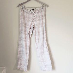 J.Crew Cotton Stripe Flannel Pajama Pants Sz S